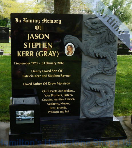 Chinese Dragon Headstone