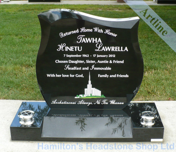 Wave Top Headstone