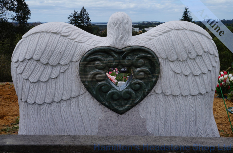 Angel Wings Headstone
