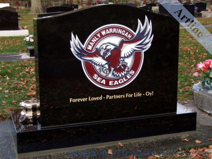 Engraved Manly Sea Eagle Headstone