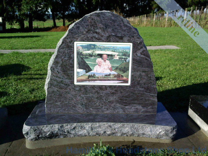 Rock Photo Ceramic Headstone