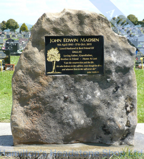 New Zealand Rock Headstone